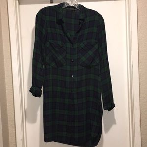 Zara plaid tunic flannel